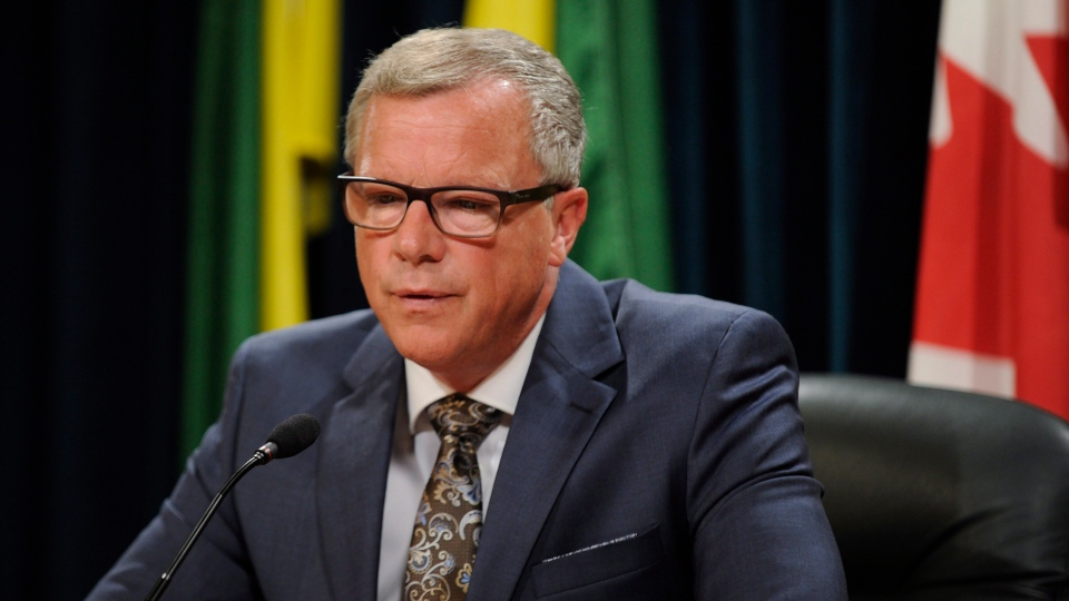 Saskatchewan Premier Brad Wall announces he is retiring from politics during a press conference at the Legislative Building in Regina, Sask., on Thursday, August 10, 2017. THE CANADIAN PRESS/Mark Taylor