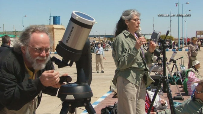 Judy and Jay Anderson have travelled the world to view solar eclipses. (Jay Anderson/CTV Winnipeg)