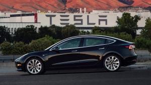 This file image provided by Tesla Motors shows the Tesla Model 3 sedan. Tesla Motors Inc. reports earnings on Wednesday, Aug. 2, 2017. (Courtesy of Tesla Motors via AP, File)