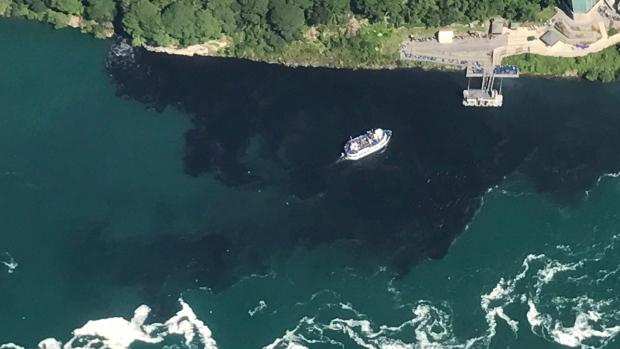 Black water Niagara Falls