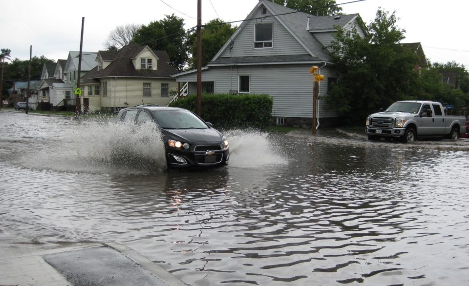 Larry Bishop captured this photo of the flooding in North Bay.