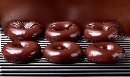 Krispy Kreme's chocolate glazed donut is seen in this handout photo. (Source: Krispy Kreme)