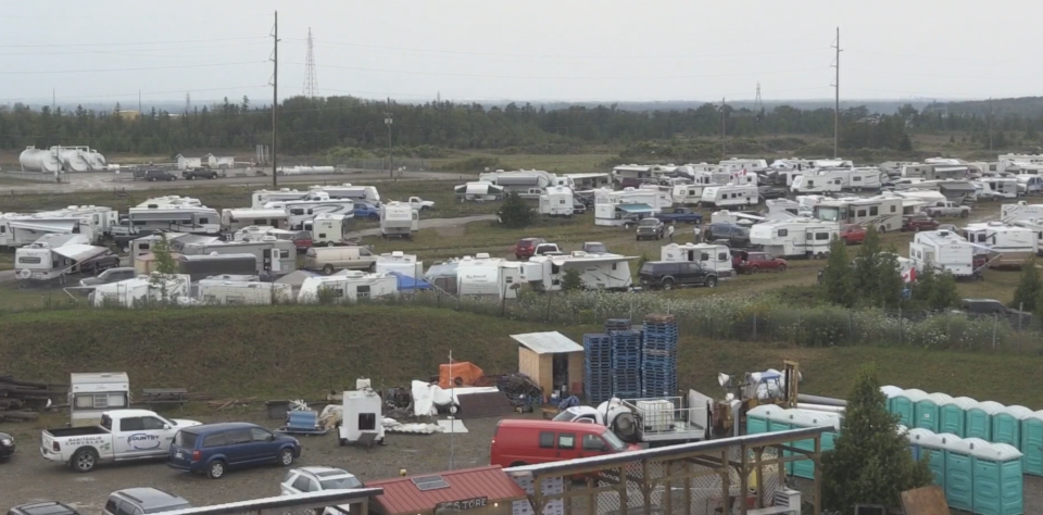 About 500 RVs are on site at the campgrounds.
