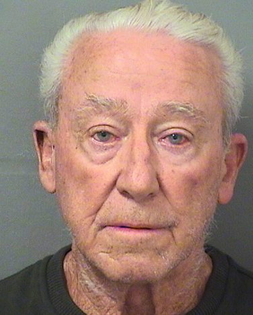 This Thursday, Aug. 10, 2017, made available by the Palm Beach County Sheriff's Office shows James O'Neil, 83. O'Neil's daughter confronted him last year where he admitted fatally shooting her mother 30 years ago. Authorities changed O'Neil with manslaughter. (Palm Beach County Sheriff's Office via AP)