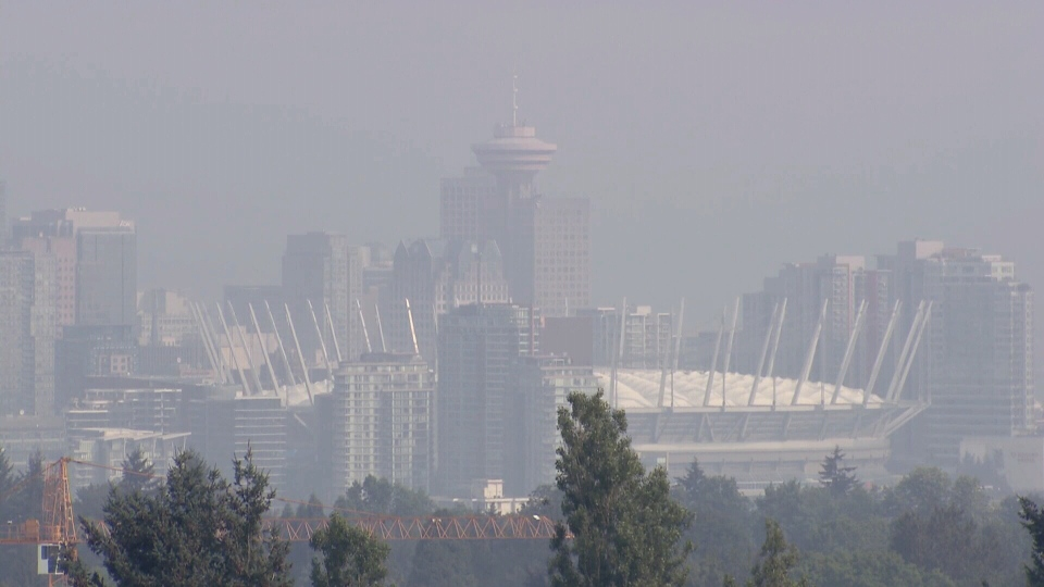 Relief from the smoke that's choked Metro Vancouver for the past ten days should be coming this weekend. (CTV)