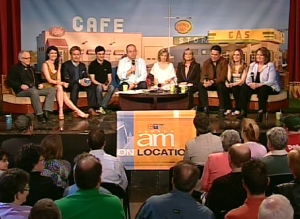 Canada AM broadcasts live with the entire cast of 'Corner Gas' from the Masonic Temple in downtown Toronto, Monday, April 13, 2009.