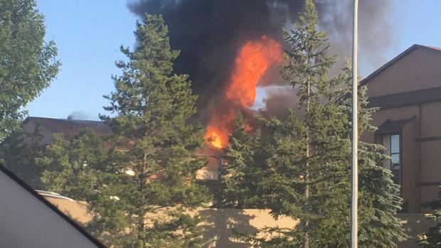 Condo fire in northeast Edmonton