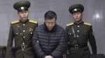 In this Dec. 16, 2015, file photo, Canadian pastorHyeon Soo Lim, center, is escorted to his sentencing in Pyongyang, North Korea. An Ontario church congregation is celebrating news of the release of their pastor from a North Korean prison more than two years after he was arrested in the country. A decision from North Korea's central court freed Hyeon Soo Lim from the prison where he was serving a life sentence for anti-state activities, the country's Korean Central News Agency reported Wednesday. THE CANADIAN PRESS/AP/Jon Chol Jin