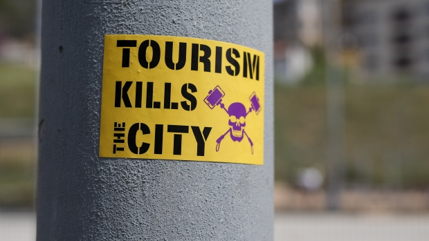 Anti-tourism sticker