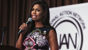 In this April 27, 2017 file photo, Omarosa Manigault-Newman speaks at the Women's Power Luncheon of the 2017 National Action Network convention, in New York. (AP Photo/Richard Drew, File)