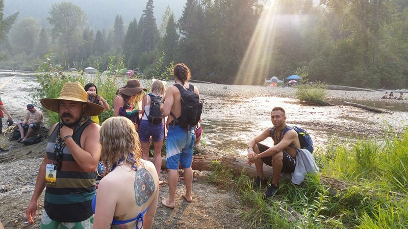 Shambhala festival-goers are being told to pack their bags and be ready to leave in the morning on Sunday Aug. 13, 2017 because of wildfire danger. (Tomas Serrano)