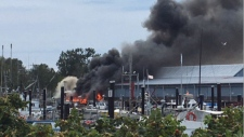 Richmond wharf fire