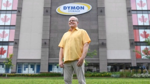 Stephen Creighton, Senior Vice President of Dymon Group of Companies, stands at the company's Carling Avenue self storage facility in Ottawa on Thursday, Aug. 3, 2017. (Justin Tang / THE CANADIAN PRESS)