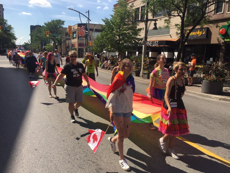 Windsor-Essex Pride Fest concludes with a parade on Sunday, August 13, 2017. (Sacha Long / CTV Windsor)