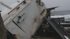 Cape Islander marooned at Sandy Cove
