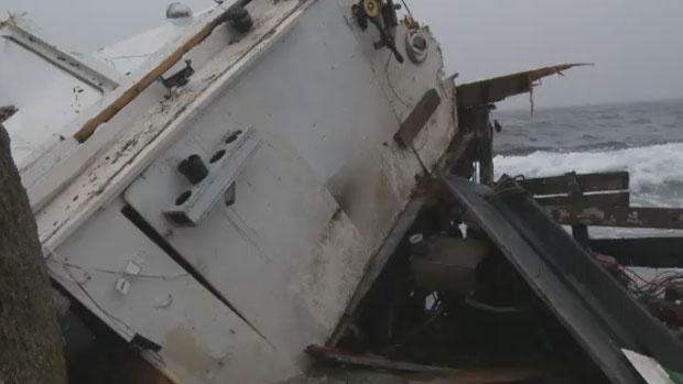 Around 10:30 p.m., Saturday, police and a Coast Guard Ship responded to a call of a six-metre Cape Islander boat marooned on Sandy Cove.