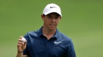 Rory McIlroy of Northern Ireland, waves on the 15th hole during the final round of the PGA Championship golf tournament at the Quail Hollow Club Sunday, Aug. 13, 2017, in Charlotte, N.C. (AP Photo/Chris O'Meara)
