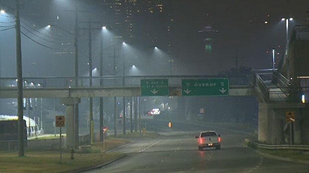 Air quality in the City of Calgary was at 10 on Monday morning, the highest reading on the AQHI scale.