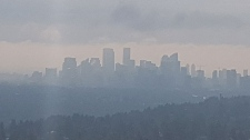 Wildfire smoke in Calgary