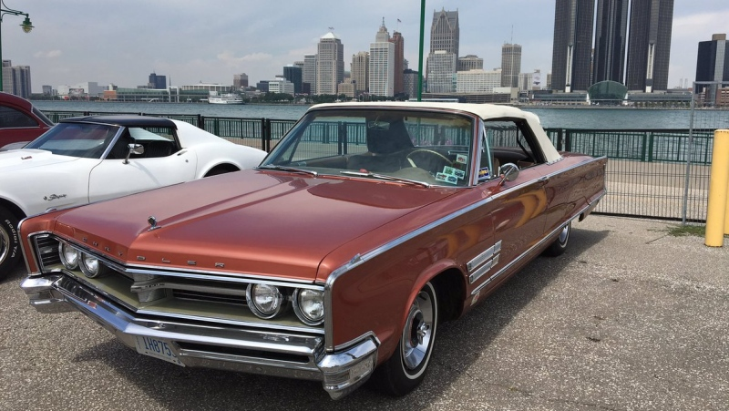 CTV Windsor's Jim Crichton will take out his 1966 Chrysler 300 convertible for the 2nd annual Ouellette Car Cruise on Friday (Christie Bezaire/CTV Windsor)
