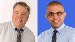 Ward 3 incumbent Dave Loken and candidate Sarmad Rasheed are seen in a composite image taken from their respective campaign Facebook pages. Supplied.