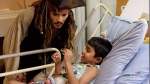 Depp's hospital visit to kids in B.C.