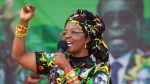 Zimbabwe's first lady, Grace Mugabe, greets supporters at a rally in Zimbabwe on July 29, 2017. (AP / Tsvangirayi Mukwazhi)
