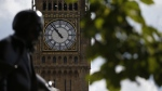 Queen Elizabeth Tower which holds the bell known as 'Big Ben' in London, on Aug. 14, 2017. (Alastair Grant / AP)