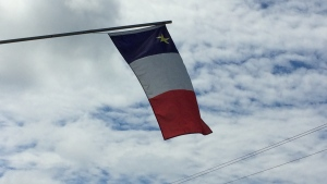 I snapped this photo of the Acadian flag while visiting beautiful Cheticamp last summer!