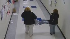 Surveillance shows boy being dragged by teachers