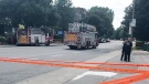 Police closed Sherbrooke St. and Monkland Ave. after a suspicious package was located at the corner of Coronation St. on Aug. 15, 2017 (Photo: Mauro Petraccone)