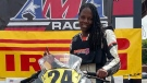 """Professional racer Joi """"SJ"""" Harris died while filming a stunt sequence for Deadpool 2 in downtown Vancouver this week. (Facebook)"""