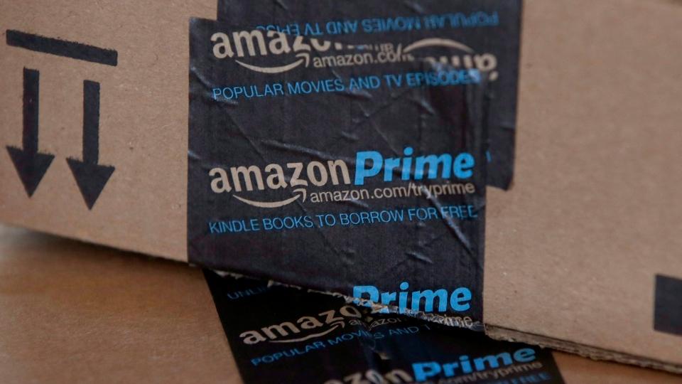 This June 4, 2014 file photo shows Amazon boxes in Phoenix, AZ. (Ross D. Franklin/AP Photo)