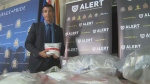 ALERT's Calgary organized crime and gang team seized 3,139 fentanyl pills in the bust.