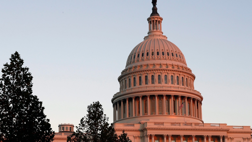FILE - This Nov. 18, 2016, file photo, shows the U.S. Capitol dome at sunset on Capitol Hill in Washington. On Thursday, Aug. 10, 2017. (AP Photo/Alex Brandon, File)