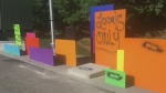 Harris Park Graffiti on Tuesday, August 15th, 2017. (CTV London)