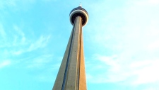 Fire breaks out at the CN Tower