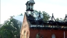 Emergency crews at the scene of a fire at a church in Burlington on August 16, 2017.