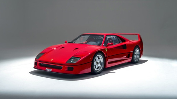rare classiche certified ferrari f40 to be auctioned ctv news autos. Black Bedroom Furniture Sets. Home Design Ideas