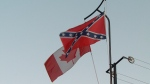 Shocked residents of a Burnaby, B.C., community say they were stunned to see a confederate flag flying in their neighbourhood. (CTV)