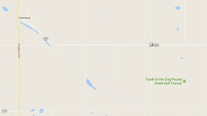 A man has died in an incident near Cremona, north of Calgary. (Supplied/Google Maps)