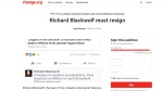 A petition on change.org, shown here in a screenshot Wednesday, Aug. 16, 2017, is calling for Richard Blackwolf's resignation.