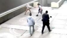 Surveillance video still of violent robbery on July 15, 2017 (Calgary Police Service)