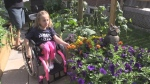 Garden gives 5 year old a place of peace