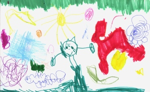 Weather art by Sarah, age 3.