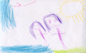 Weather art by Leah, age 5, from the Betty Huff