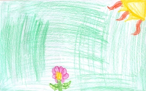 Weather art by Evan, age 8,