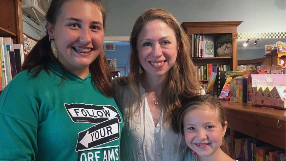 Chelsea Clinton visited Brome Lake Books
