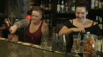 Amanda Bauer (L) and Erica Pyska (R), the assistant manager and owner of Plum restaurant in Lethbridge, were stunned to read a harsh online review of their establishment.