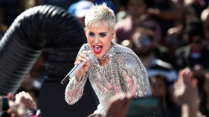 In this Monday, June 12, 2017, file photo, Katy Perry performs during 'Katy Perry - Witness World Wide' exclusive YouTube Livestream Concert at Ramon C. Cortines School of Visual and Performing Arts in Los Angeles. (Photo by John Salangsang/Invision/AP, File)
